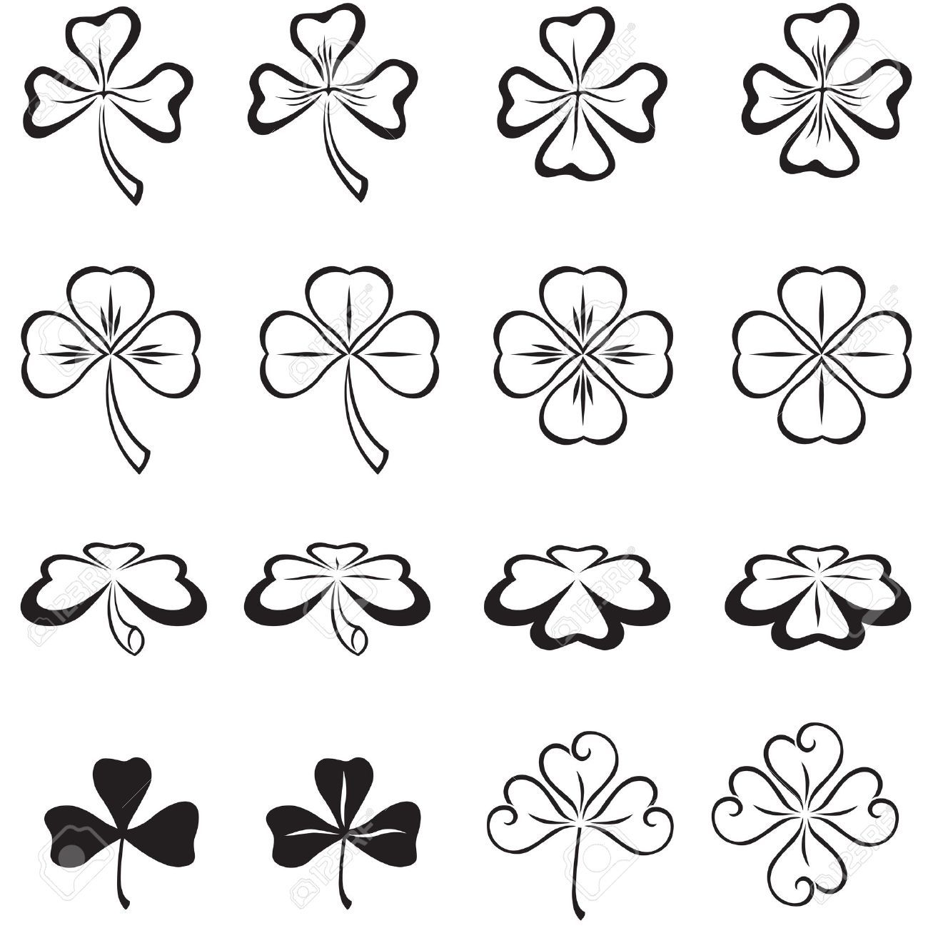 The Leaves Of Clover In Three And Four Leaf Royalty Free