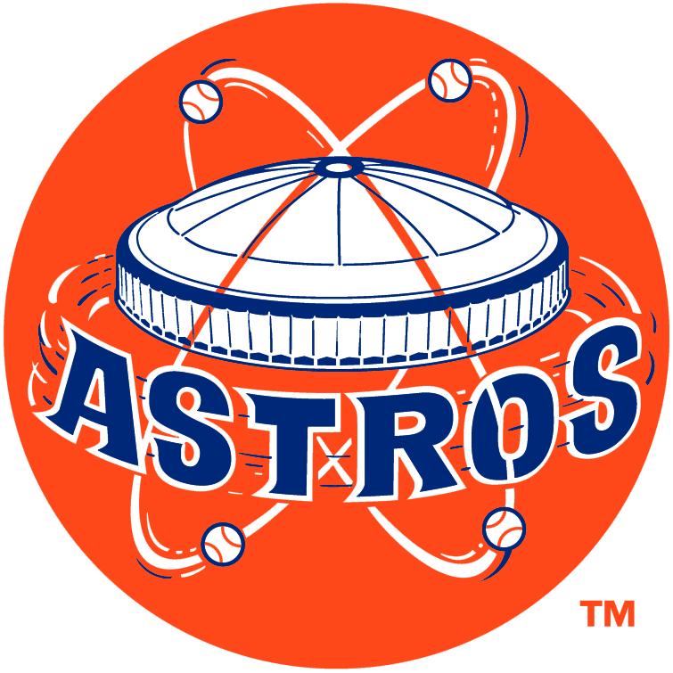Houston Astros Primary Logo 1965 Astrodome Above Astros White