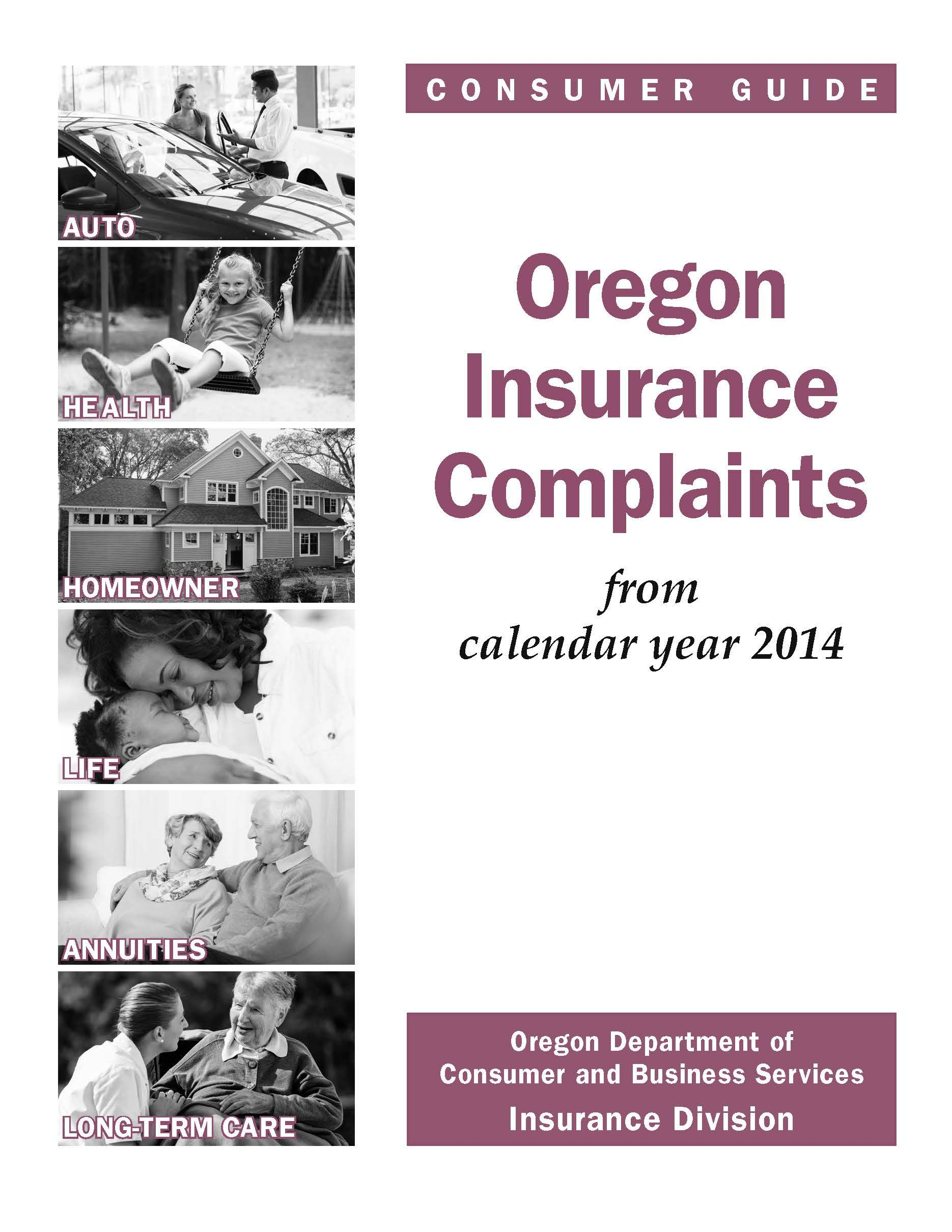 Oregon Insurance Complaints By The Oregon Insurance Division