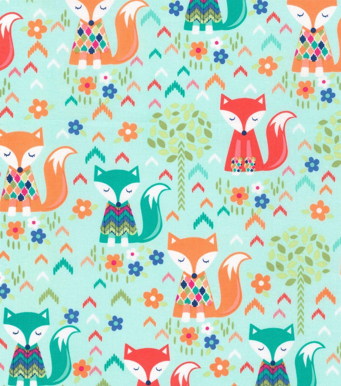 Novelty Cotton Fabric-Sweater Foxes   Fabrics I Adore   Fabric