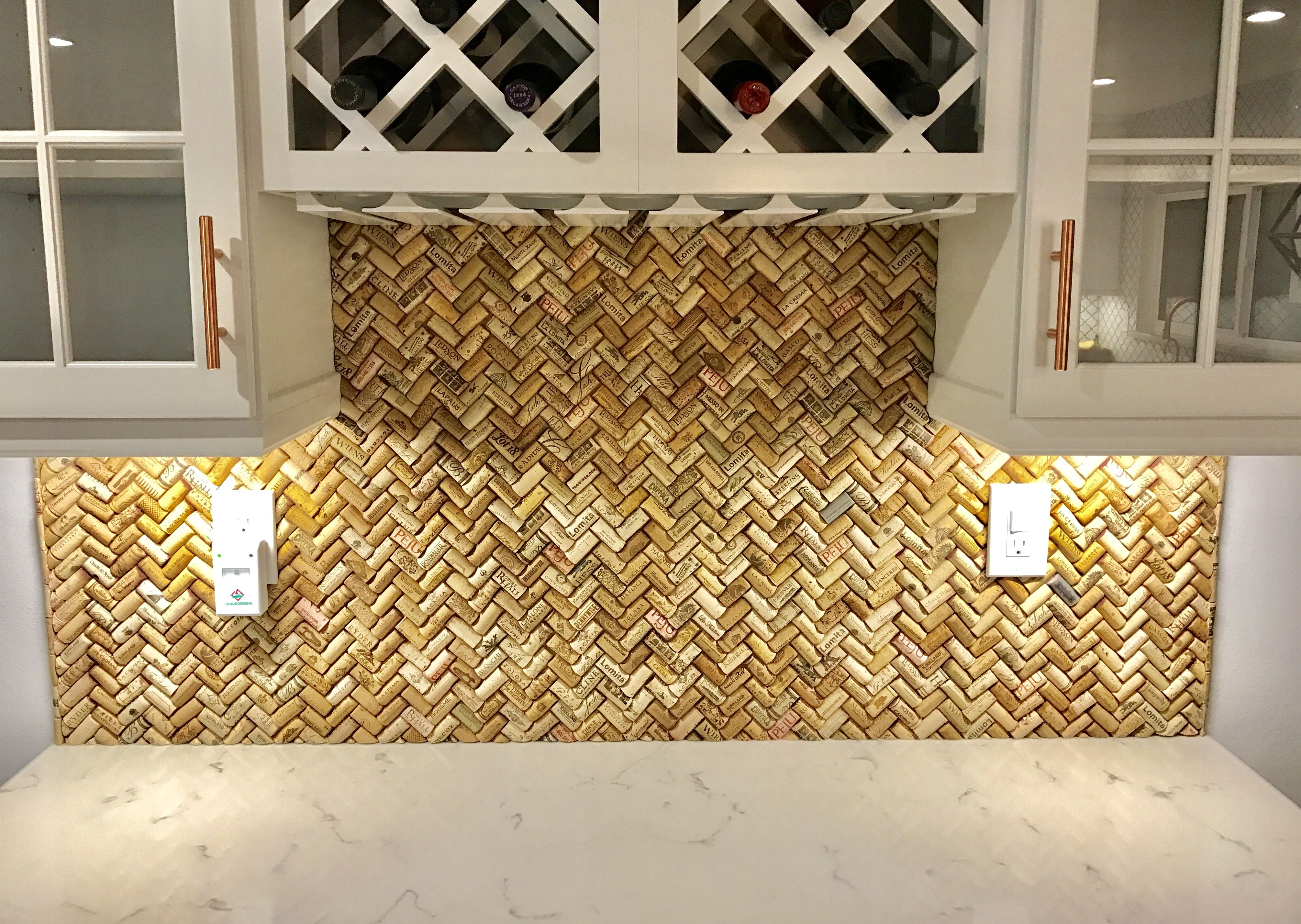 Cork Backsplash Wine Projects Crafts Homemade Bench Tiles