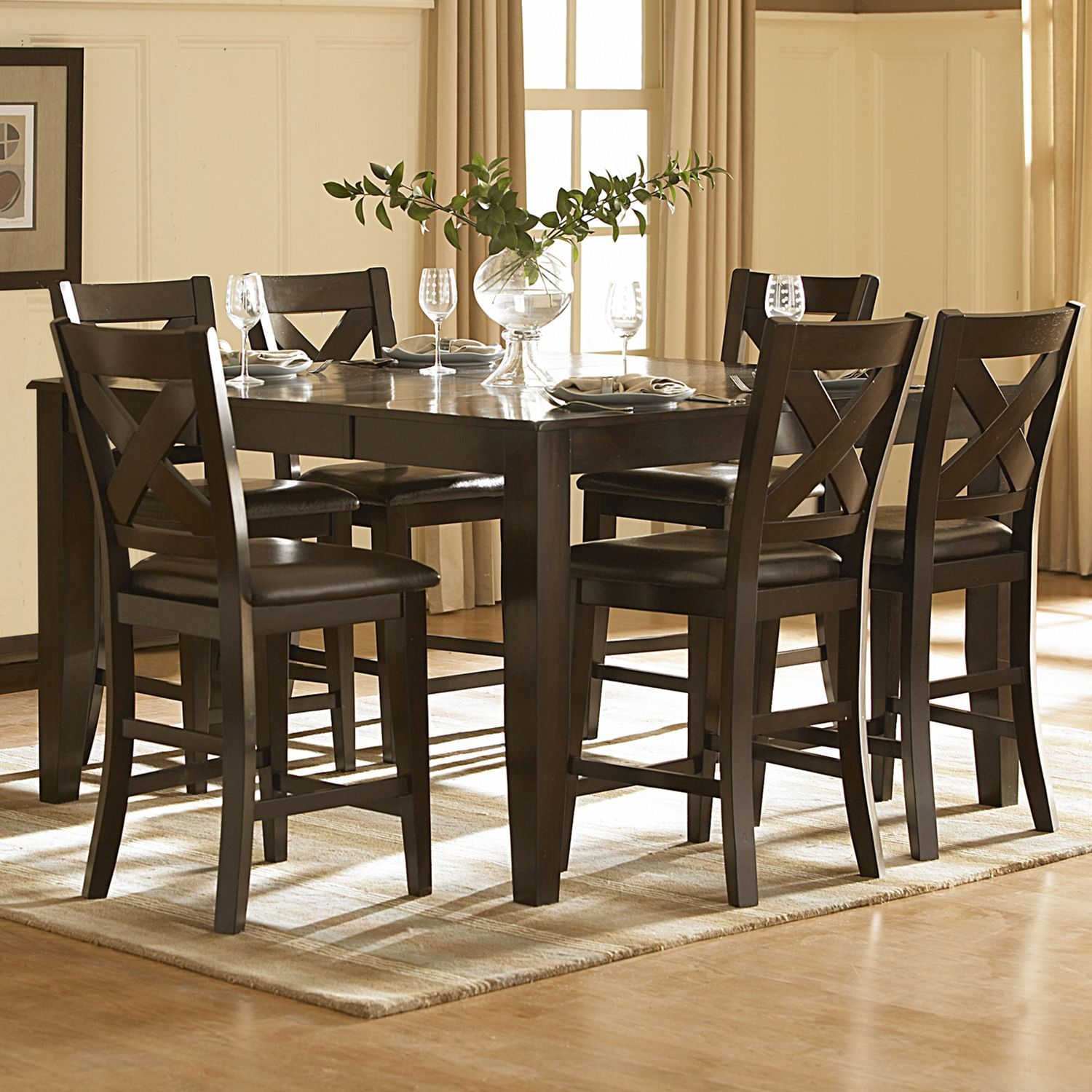 Acton Merlot Counter Height Dining Table by iNSPIRE Q Classic by iNSPIRE Q