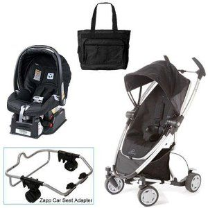 Quinny Rocking Black Zapp Xtra Travel System With Peg Perego Nero Black Car Seat Diaper Bag Car Seat Bag Travel System Best Baby Strollers