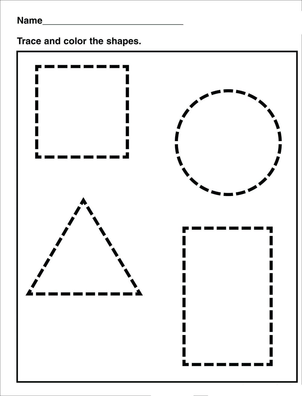 - Tracing Shape Preschool Free Printable Worksheets Drawing Shapes