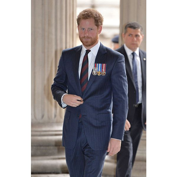 Prince Harry wore his army medals to attend a service at St Paul's Cathedral on Thursday morning