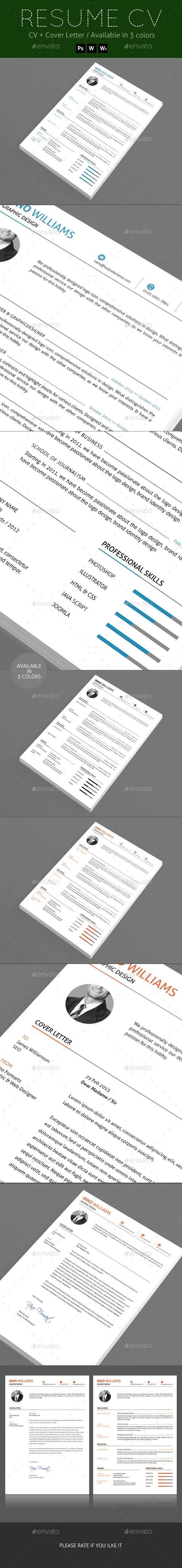 Pin de best Graphic Design en Resume Templates | Pinterest | Curriculums