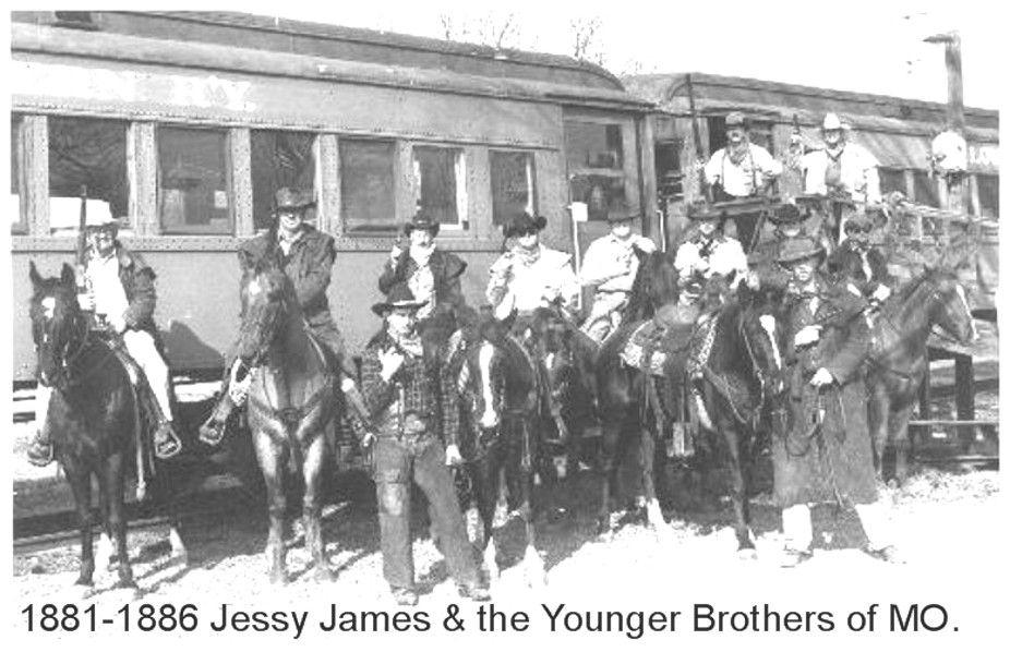 1881-1886 Jessy James & Younger  Missouri