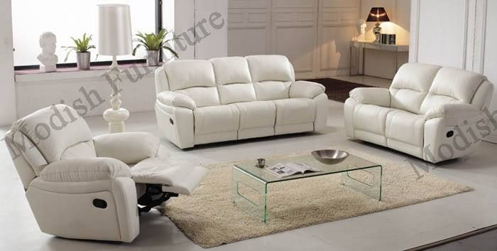 Assorted Colours Italian Leather Reclining Sofa With Loveseat And