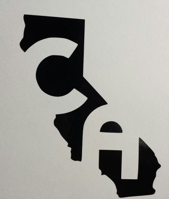 California ca outline vinyl decal by reallifesims on etsy 3 00