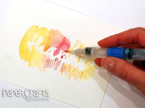 Utilisation Des Crayons Aquarellables Tutoriel Scrapbooking