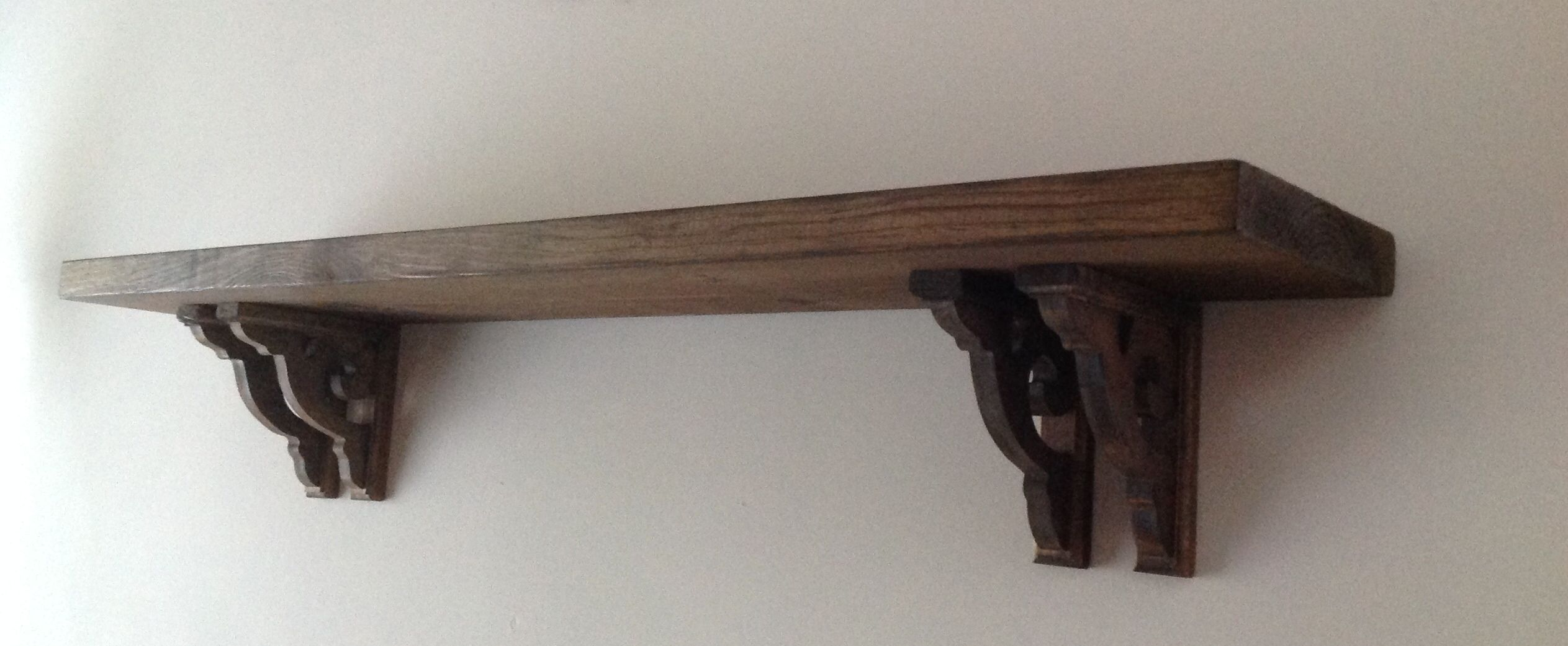 Diy shelf aaron and i made this using wood and shelf