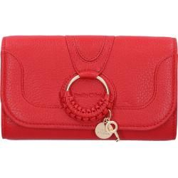 See By Chloé Wallet on chain Hana Kalbsleder logo rot Chloé #seebychloe