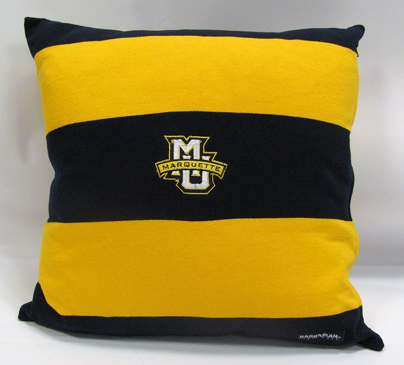Item 23261 MU Rugby Striped Pillow 45.95. Stop in or