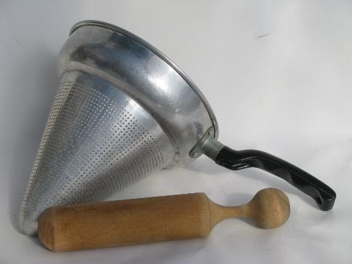 Vintage Kitchen Food Mill Juicer Strainer Sieve Cone