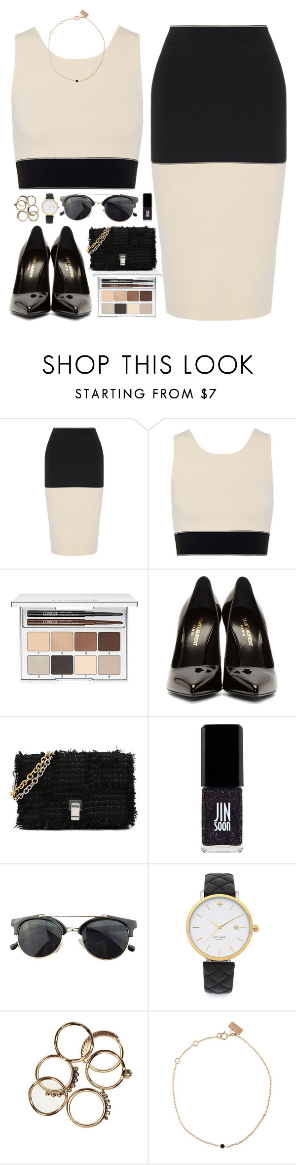 """Meet me on the Equinox"" by sharinganjea ❤ liked on Polyvore featuring rag & bone, Clinique, Yves Saint Laurent, Proenza Schouler, Jin Soon, Chicnova Fashion, Kate Spade and VANRYCKE"