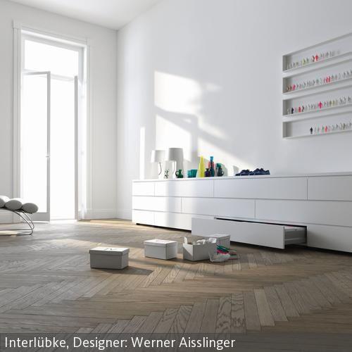 Sideboard mit schubladen in wei in 2019 interior for Hangedekoration wohnzimmer