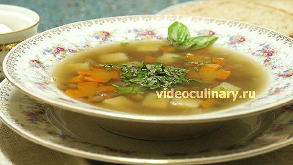 Постный Суп с чечевицей | Ricetta
