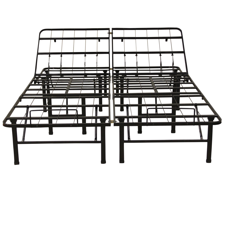 Classic Postureloft Adjustable 14 Inch Heavy Duty Bed Frame Mattress