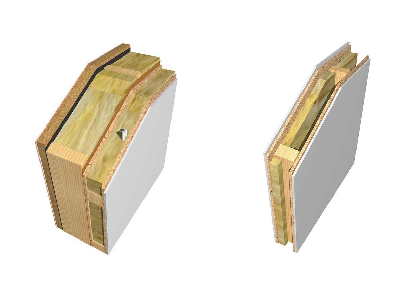 holzriegel au enwand wandaufbau des m haus systems dom pinterest bau haus bauen und hochbau. Black Bedroom Furniture Sets. Home Design Ideas