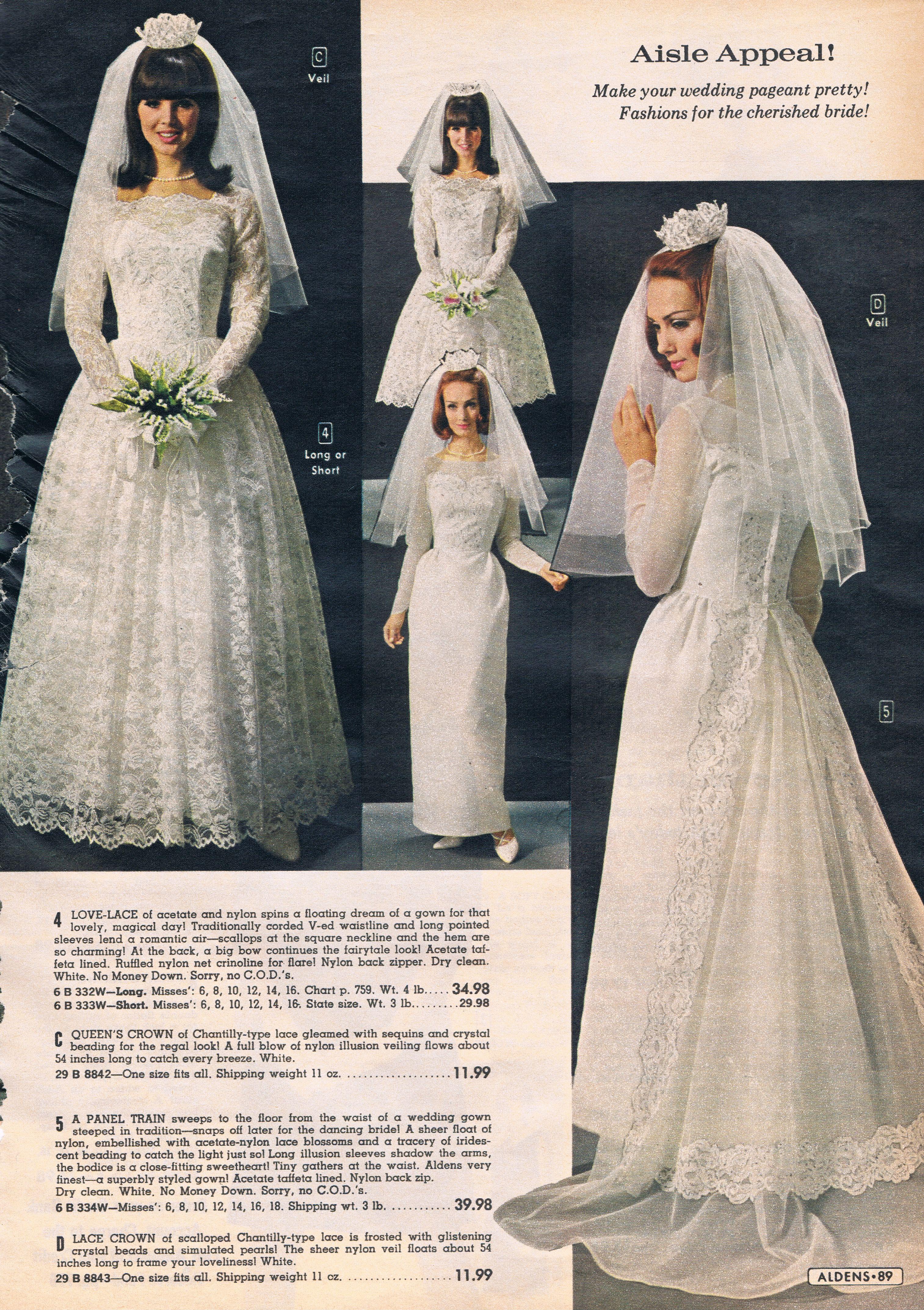 60s wedding dress  Aldens catalog s  WeddingWeddingWedding  Pinterest