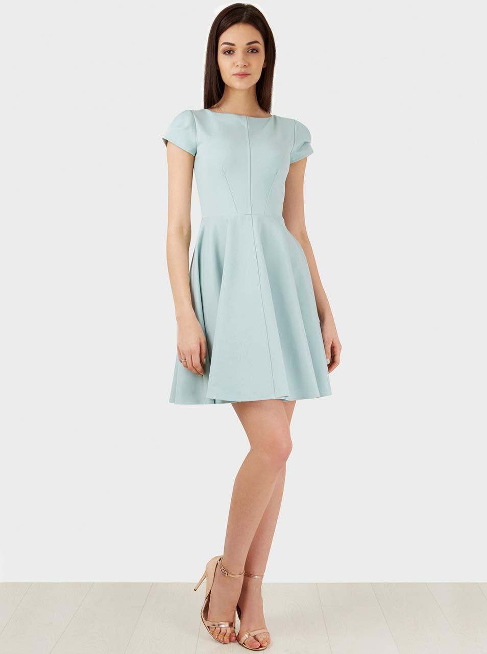 f2a93e8717c6 Mentolové šaty Closet