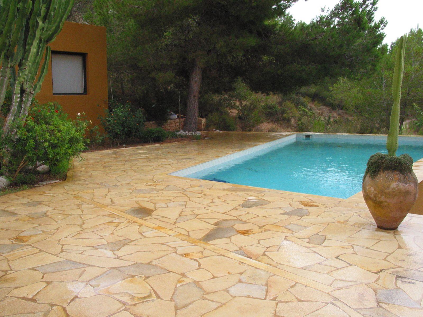 Piedra caliza solnhofen f sil para pavimento - Suelo antideslizante exterior ...