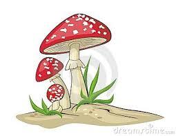 Resultado de imagem para desenhos de cogumelos e duendes