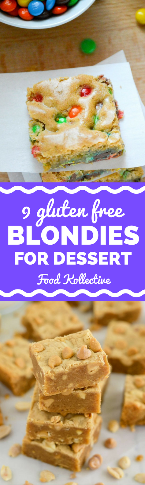I was looking for gluten free blondies and these look ah-mazing! There are so many different flavors. Cake batter blondies, apple pie blondies, flourless blondies, blondies with coconut flour, blondies with salted caramels, and more! These would be ideal for dessert. Collected on FoodKollective.com