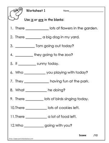 Use Is Or Are Worksheet 1 Students Must Decide Between Choosing Is Or Are To Grammar Worksheets Kindergarten Grammar Worksheets English Grammar Worksheets