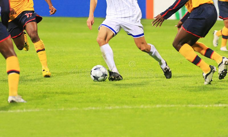 Soccer Detail Of A Soccer Game With Many Players In Action Sponsored Soccer Detail Soccer Action Players Ad Soccer Soccer Games Stock Photos