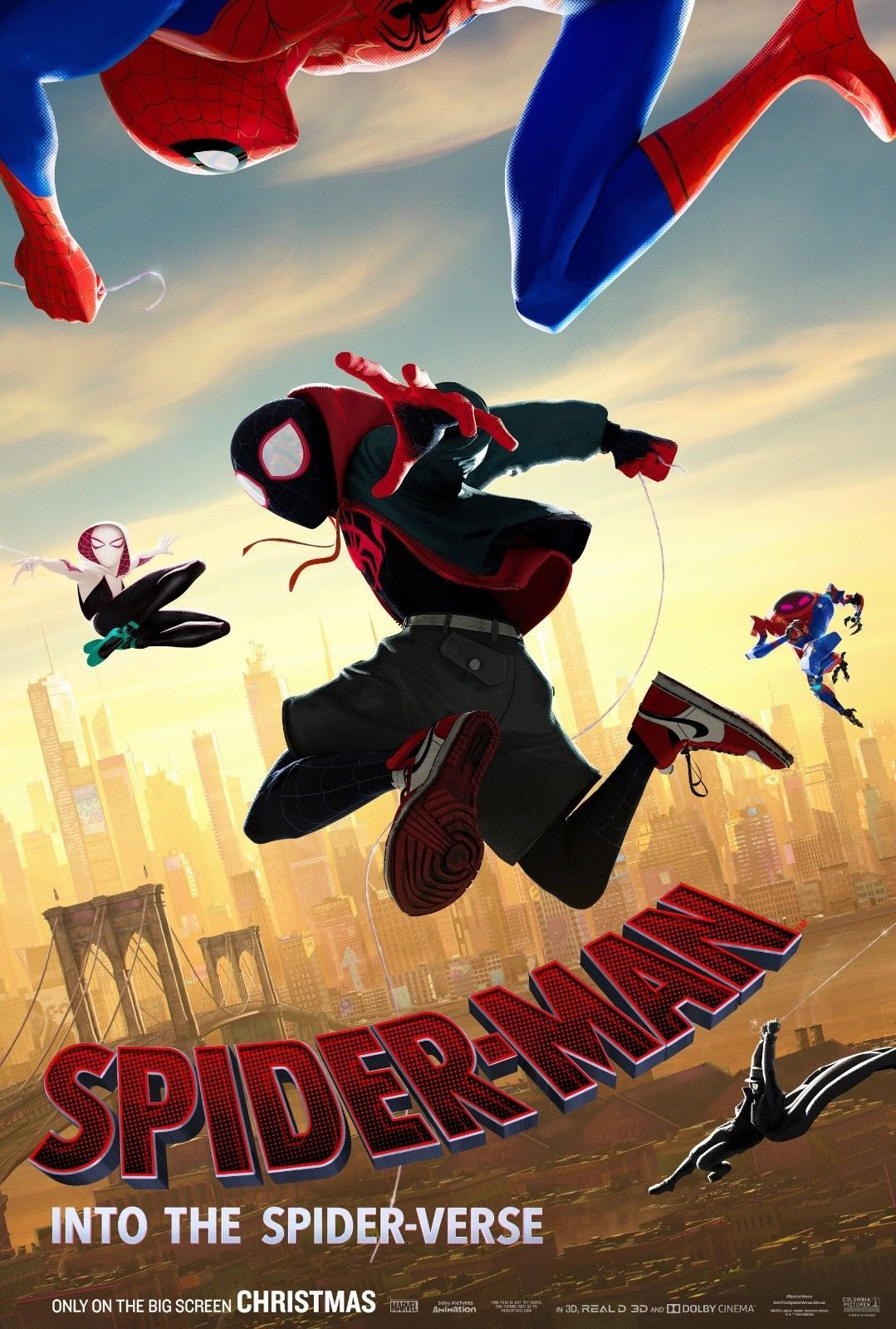 Spider Man Into The Spider Verse Girl Miles Morales Cartoon Poster Reprint Gwen Spider Verse Spiderman Free Movies Online