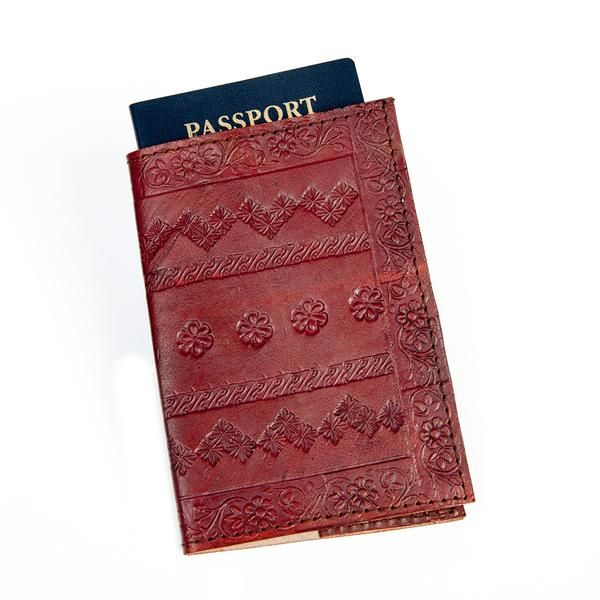 Brown Embossed Genuine Leather Handmade Passport Cover https://sitaracollections.com/collections/travel-accessories/products/brown-embossed-genuine-leather-passport-cover-with-flowers