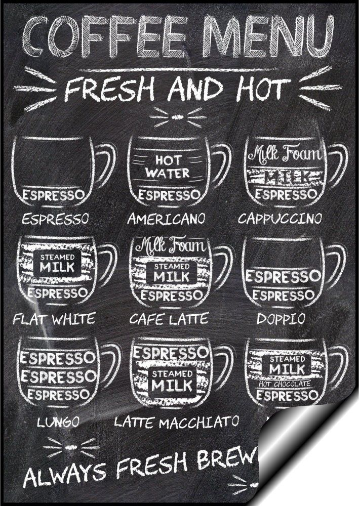 British vintage posters chalk board coffee menu poster cafe bar kitchen a3 amazon