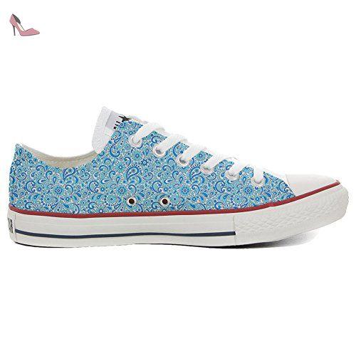 Converse All Star Slim Customized personalisierte Schuhe (Handwerk Schuhe) Happy Paisley