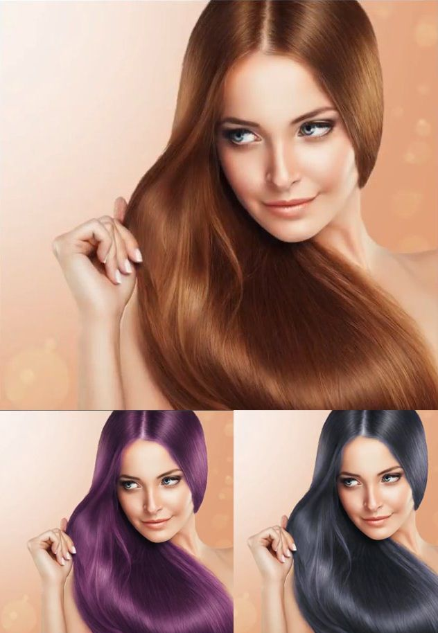 How To Change Hair Color In Photoshop Tutorial Photoshoptutorials