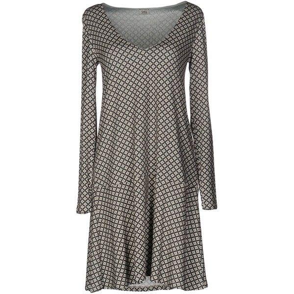 Siyu Short Dress ($175) ❤ liked on Polyvore featuring dresses, deep jade, short dresses, long sleeve dress, long sleeve jersey, long-sleeve mini dress and long sleeve jersey dress