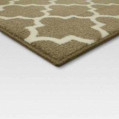4 X6 Fretwork Design Area Rug Tan Threshold Size 4 X6