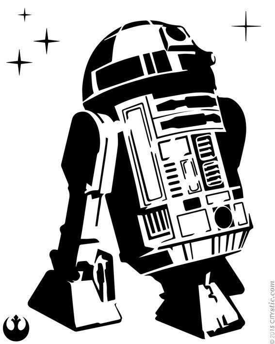 Star Wars Wall Decal R2d2 Droid Decal Rebellion Droid With