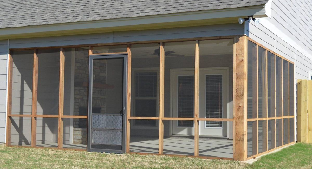 Build a screened in porch or patio with images