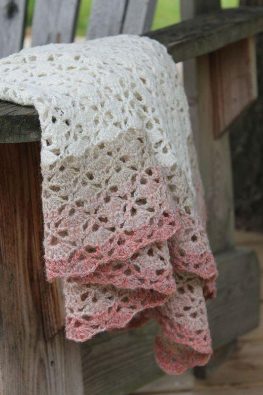South bay Shawlette ....WHITE | Patrones, Mantas de bebé y Frazadas