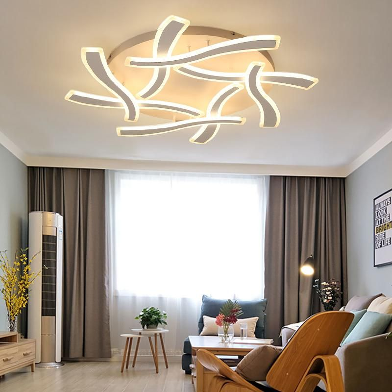 Ceiling Lights & Fans Remote Control Led Ceiling Light With Ultra-thin Acrylic Lamp Ceiling For Living Room Bed Room Flush Mount Lamparas De Techo Lights & Lighting