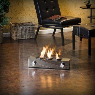 Overstock.com - Loft Brushed Nickel Portable Indoor/ Outdoor ...