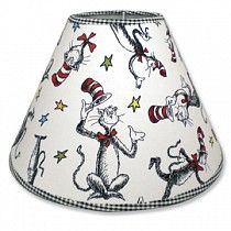 Cat in the hat lamp shade for the baby's room!  So cute if this is the theme!
