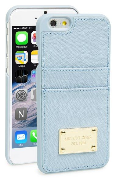 outlet store 2ccca 8f5eb MICHAEL Michael Kors Card Holder iPhone 6 Case | Nordstrom | Michael ...