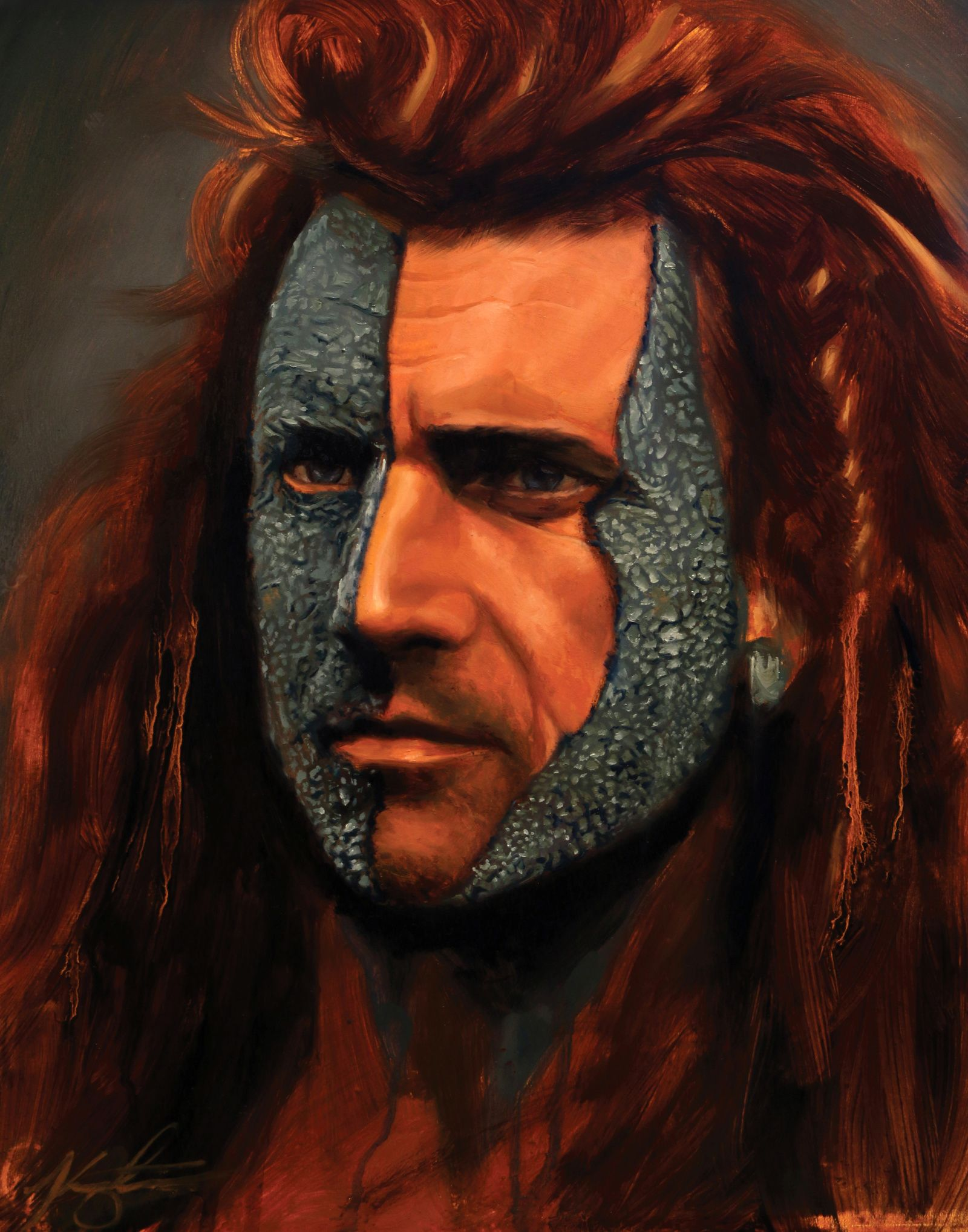 "Graphic Art Poster Braveheart and William Wallace /""Battle Cry/"" Wall Art"