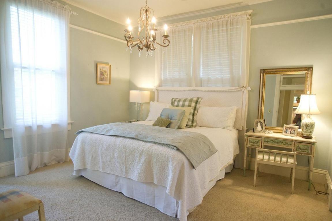 Guest Room Palladian Blue Walls Benjamin Moore Bedrooms