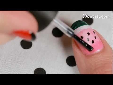 Nail Art Designs Watermelon Nail Designs Tutorials Pinterest