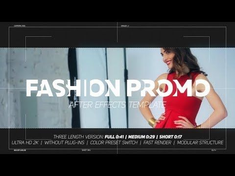Dynamic Fashion Promo After Effects Template