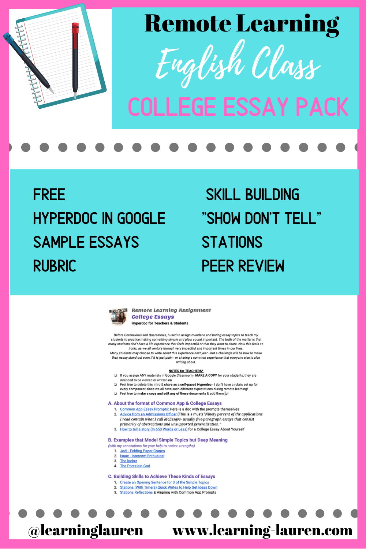 Remote Learning College Essay Hyperdoc College Essay Essay Teaching English