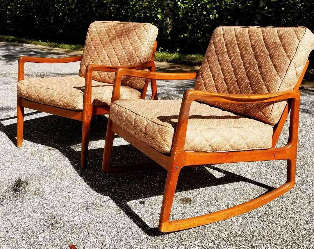 Awesome John Stuart Pair Of Teak Mid Century Modern Chairs  #midcenturymodern #mcm #decor #furniture #johnstuart #chairs #4